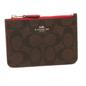 Coach Signature Keychain Pouch for Coin, Card & ID